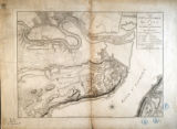 Plan of the city and environs of Quebec, with its siege and blockade by the Americans, from the...