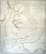Sketch of the position of the British forces at Elizabeth Town Point after their return from...