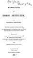 Manœuvres of horse artillery / by General Kosciusko ; translated, with notes and descriptive plates, by Jonathan...