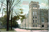 West Point, NY.  The Academic Building, view from South side, U.S. Military Academy.